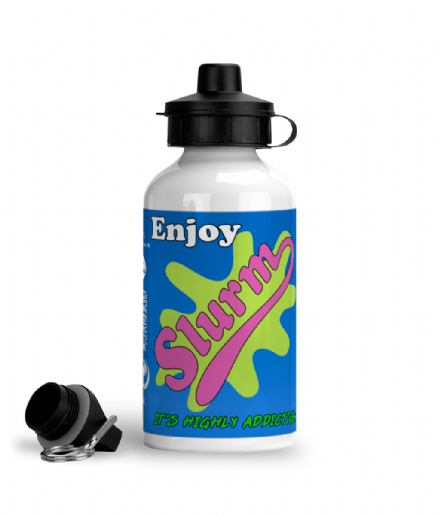 Aluminium Sports Water Bottle Soft Drink From Futurama Slurm Design